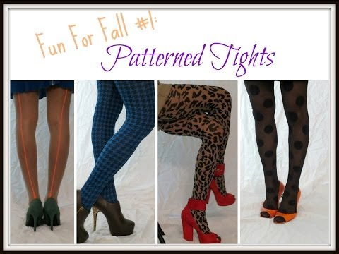Fun For Fall 1 Patterned Tights
