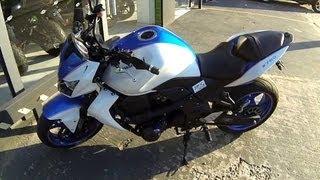 Rodrigo90 Z750 Branca - Mostrando mais detalhes da moto, Linda *_*