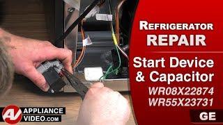 GE, General Electric Refrigerator –Diagnostic & Repair- Start Device - Relay / Overload & Capacitor