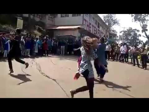 Folk dance by College Girls and boys from Tamilnadu