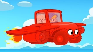 My Red Super Tractor! Morphle finds the missing sheep. Animation for kids [Bug fixed]