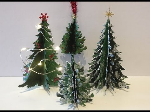 3D Christmas Paper Tree Tutorial