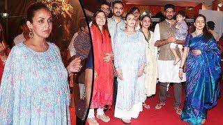 Pregnant Esha Deol Snapped With Family Celebrating Krishna Janmashtami