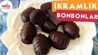 3 Malzemeli İkramlık Bonbonlar - Çikolatalı tarifler - Nefis Yemek Tarifleri