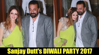 Hrithik Roshan Wife Sussanne Khan At Sanjay Dutt Diwali Party 2017 | Meri Behan Hai...