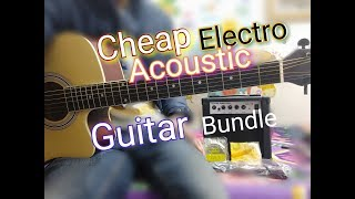 Cheap Electro Acoustic Guitar Bundle - Vault Ed10 ce with Ga10 amplifier & Accessories Review hindi