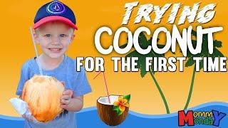 Kids Try Raw Coconut & Fresh Malasadas    Mommy Monday