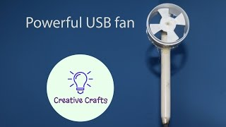 How to make a powerful Usb Fan | DIY very easy