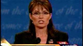 Palin Answers Question on Wall Street