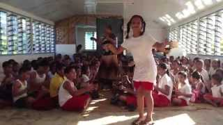 Lotofaga, Samoa school children dance to and sing village song
