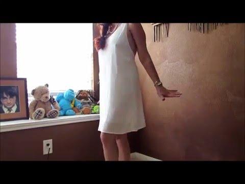 Vanberfia Backless Lace Crochet Chiffon Dress