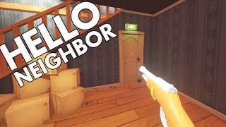 Hello Neighbour - Secret Gun Ending and Burning Bear? - Let's Play Hello Neighbor Gameplay