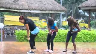 Girls dancing to  Bend Down by Lamili