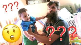 TWINS REACT TO DAD SHAVING BEARD | NEVER SEEN HIM SHAVED