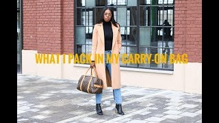What I Pack In My Louis Vuitton Carry-On Bag + Travel Essentials | Style Domination