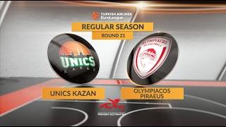 Highlights: Unics Kazan-Olympiacos Piraeus