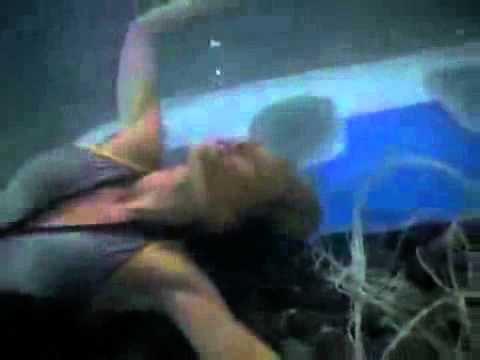 BAYWATCH S09E02 Mitch saves UNCONSCIOUS SUBMERGED Neely trapped by plane wreckage CPR