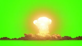 Nuclear Bomb Explosion - Green Screen Effects || YTschool.