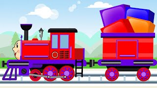 The Train - Adventures with BOXES - New Cartoon for Kids