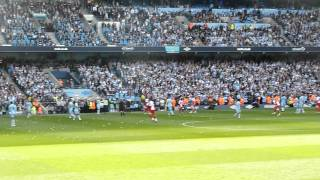 Aguero winning goal from East Stand Lower
