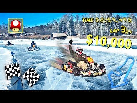 INSANE ICE KARTING FOR 10 000 W TEAM 10