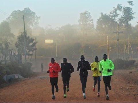 Kenyans & Ethiopians Training for London Marathon 2015 #1