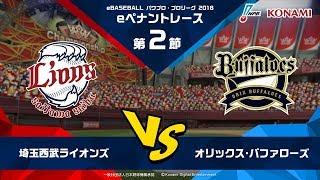 パワプロ・プロリーグ 2018 第2節 『埼玉西武ライオンズ vs オリックス・バファローズ』