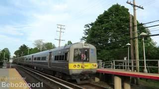 Long Island Railroad: Hempstead EMU Trains at Garden City, NY RR