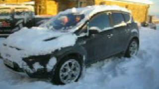 Ford Kuga AWD stuck in the snow