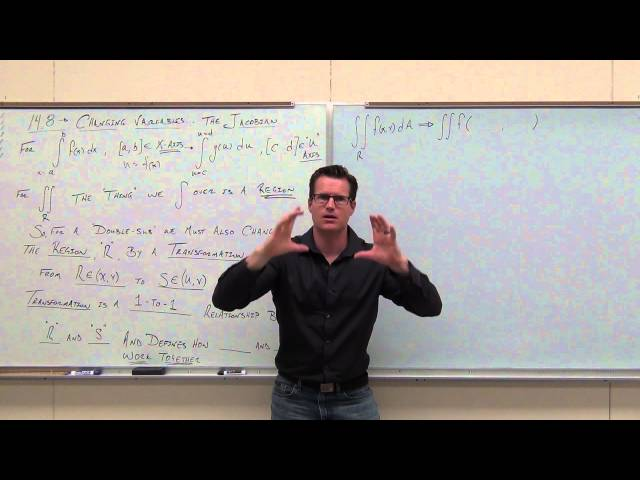 Calculus 3 Lecture 14.8:  How to Change Variables in Multiple Integrals (Using the Jacobian)