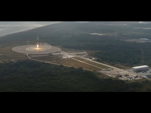 A final look at SpaceX Falcon 9 landing today drone camera onboard camera
