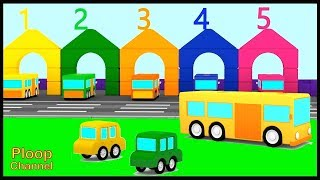 Cartoon Cars - TAYO Little Bus Construction - Learn to Count Cartoons for Children - Videos for kids