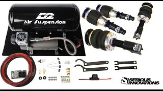 Unboxing of Accuair and D2 air suspension Plus How to install for 2010 Toyota Corolla