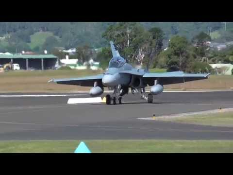 RAAF F/A-18B Hornets at Wings Over Illawarra 2014