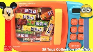 New Microwave Just Like Home Toy Appliances Surprise Toys Pez Candy Video for Children Kids Toddlers
