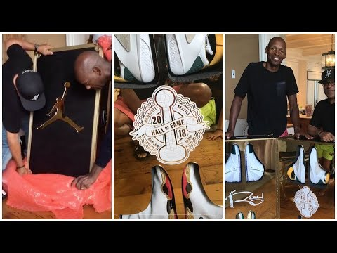 Jordan surprises Ray Allen with a trunk full of his best shoes from each team he was on