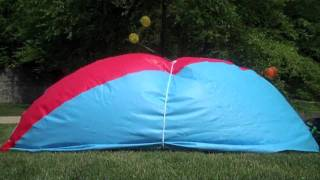 Inflating the JUMBO beach ball