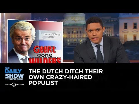 The Dutch Ditch Their Own Crazy Haired Populist The Daily Show