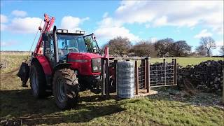 Quickfencer Wire unrolling and tensioning G. Martin fencing