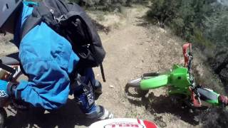 dirtbiking in lebec CA, may 26th, 2017