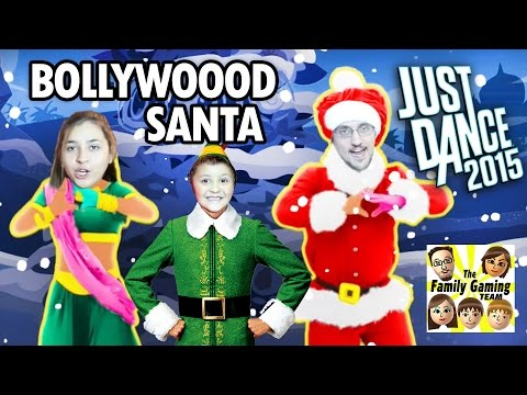 Lets Play Just Dance 2015 Santa Bollywood CHRISTMAS TREE w FGTEEV Mike Mom & Dad