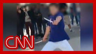 Knife-wielding teen shot at school