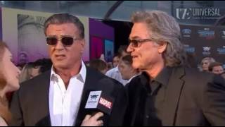 Kurt Russell Sylvester Stallone Interview - Guardians of the Galaxy Vol. 2 Red Carpet Premiere