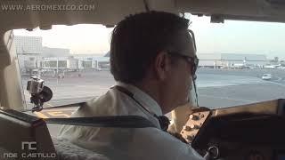 AeroMexico Boeing 767 Mexico City to New York JFK Cockpit - Cabina de Pilotos