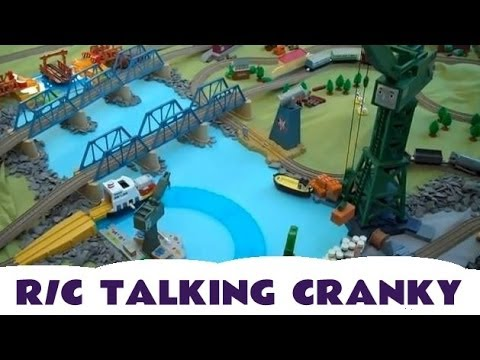 R C Talking Cranky Fun Kids Thomas & Friends Toy Train Set Mattel Thomas The Tank