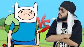 Finn (Hora de Aventura) VS. Mussoumano | Batalha Cartoon - part. Felipe Castanhari