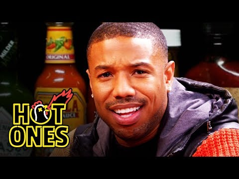 Michael B. Jordan Gets Knocked Out By Spicy Wings Hot Ones