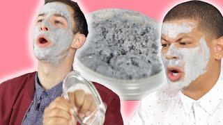 Men Try Bubble Face Masks