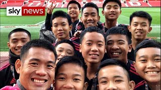 Rescued Thai cave boys meet Jose Mourinho at Manchester United