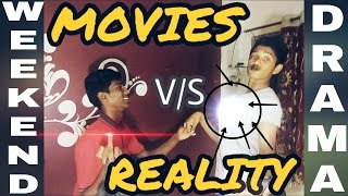MOVIES V/S REAL LIFE !! FUNNY VIDEO !! WEEKEND DRAMA WITH APJ !!